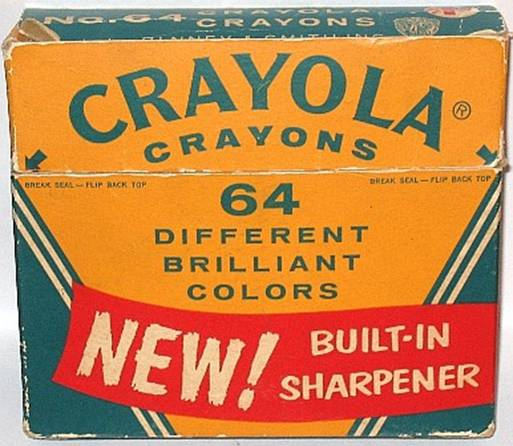 Crayola No 64 (Arched red banner) - 64 colors