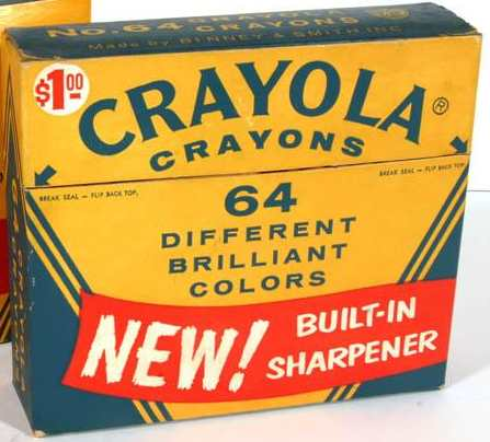 Crayola No 64 (New red banner arched yellow