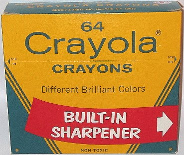 Crayola No 64 (straight banner) - 64 colors