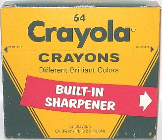 Crayola No 64 (fat lettering red banner) - 64