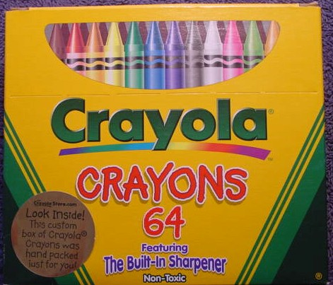 Crayola No 64 (Gold sticker) - 64 colors
